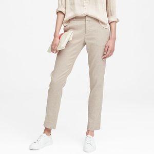 BANANA REPUBLIC Ryan Slim Straight-fit Linen Pants